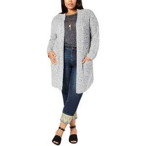Style & Co Plus Size Tweed Sweater Cardigan 3X